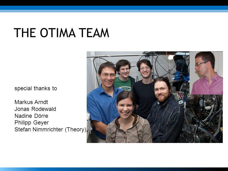 THE OTIMA TEAM special thanks to Markus Arndt Jonas Rodewald