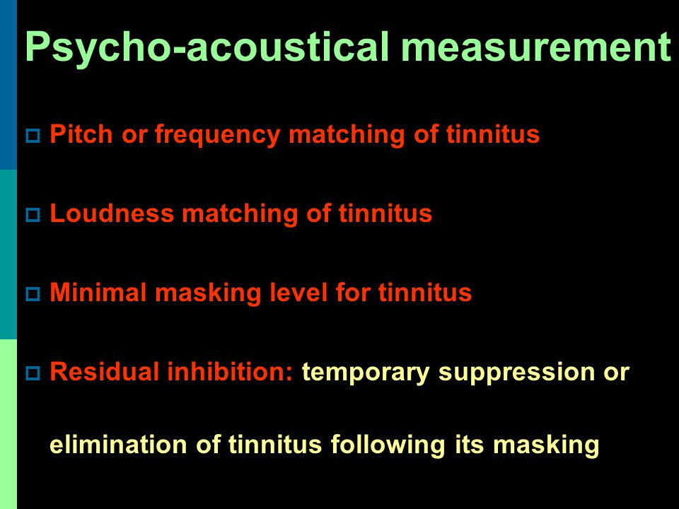 Psycho-acoustical measurement
