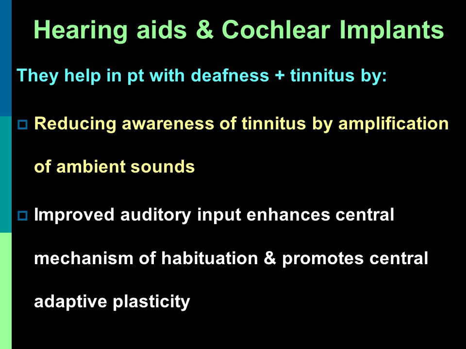 Hearing aids & Cochlear Implants