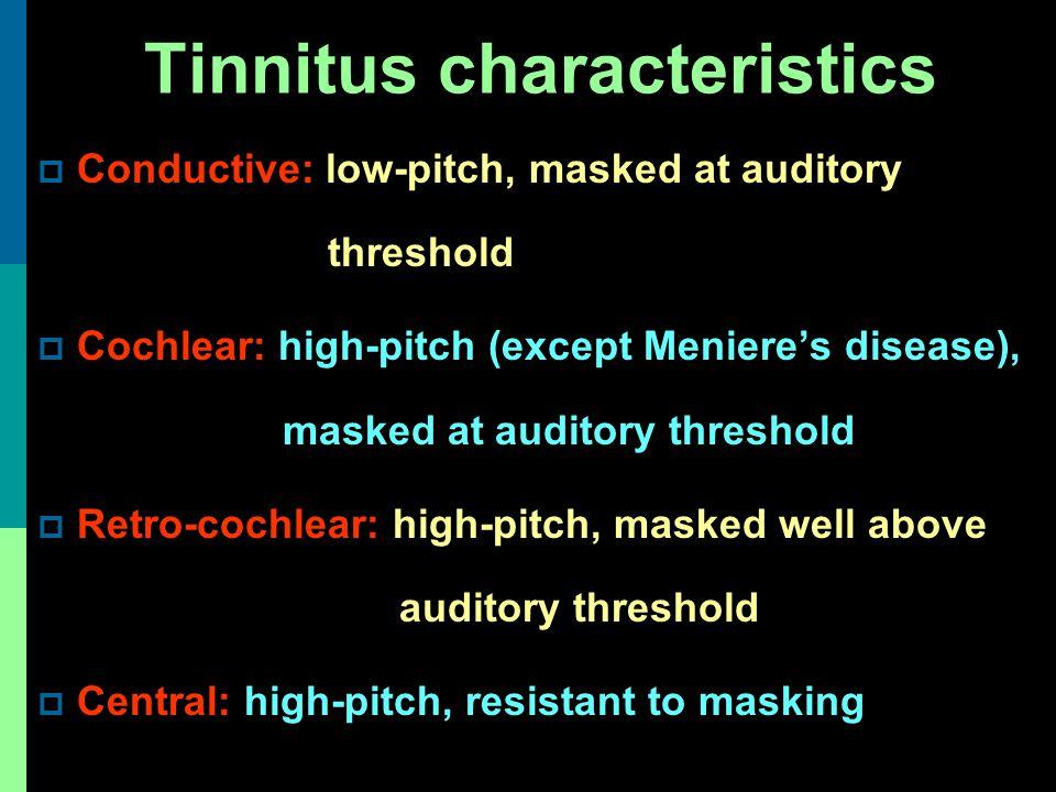Tinnitus characteristics