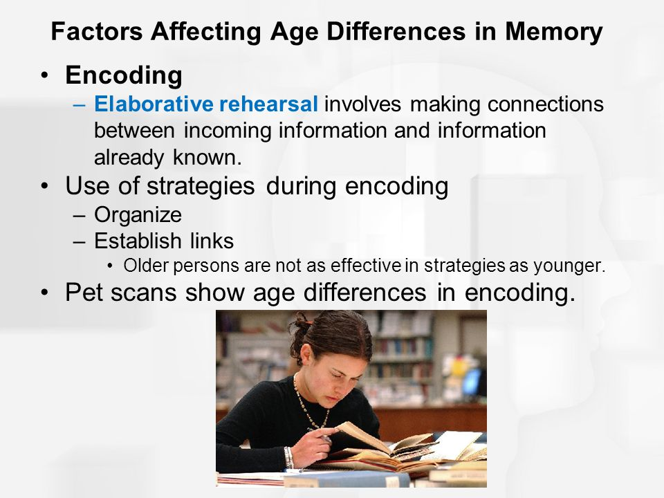 Factors Affecting Age Differences in Memory
