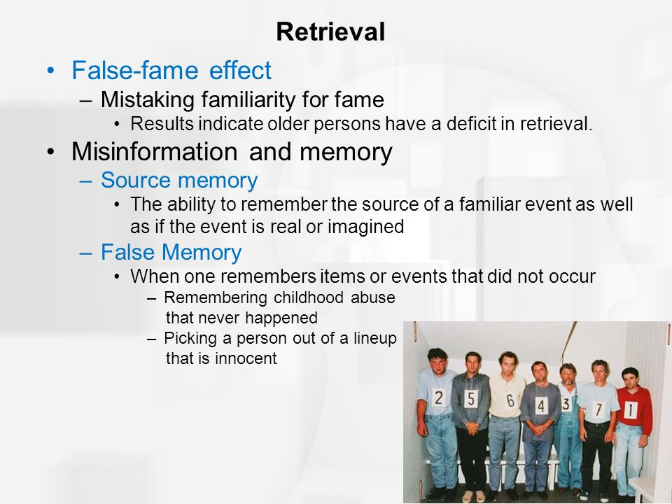 Misinformation and memory