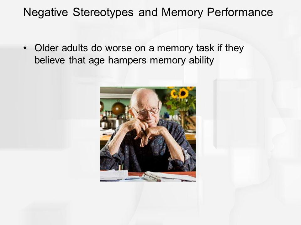 Negative Stereotypes and Memory Performance