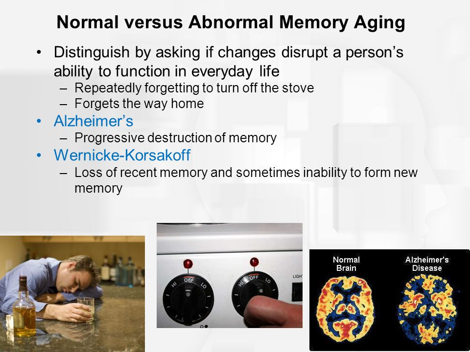 Normal versus Abnormal Memory Aging