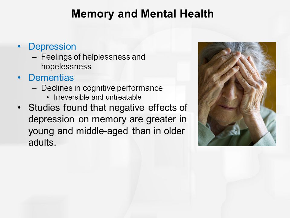 Memory and Mental Health