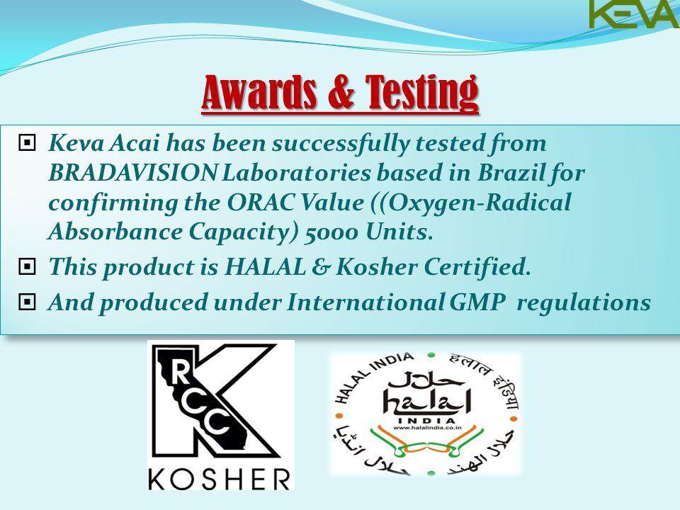 Awards & Testing