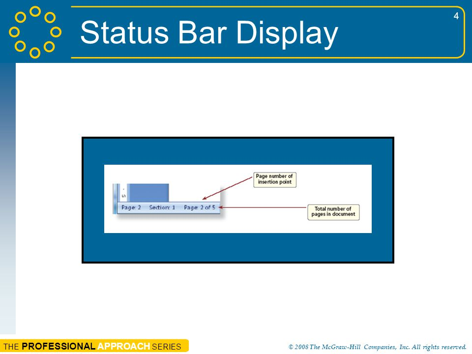 Status Bar Display