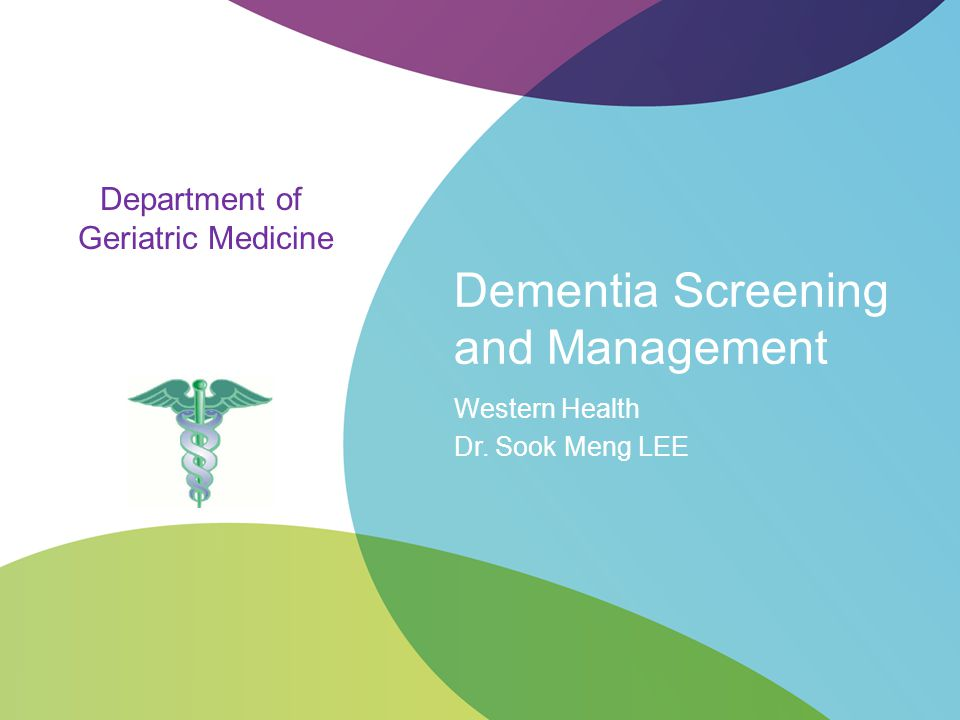 Dementia Screening and Management