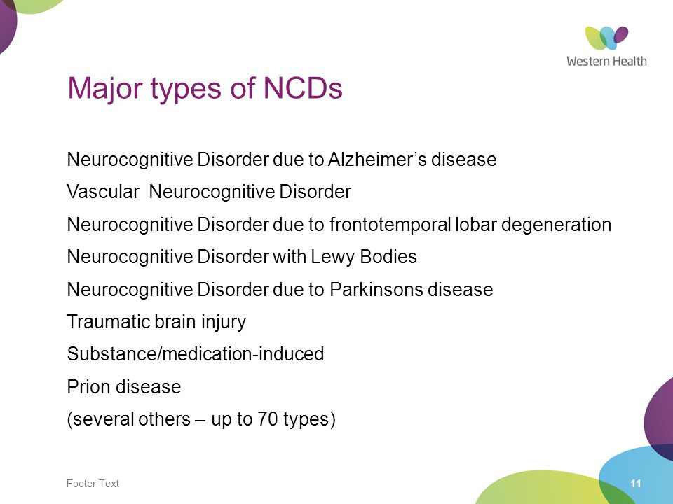 Major types of NCDs