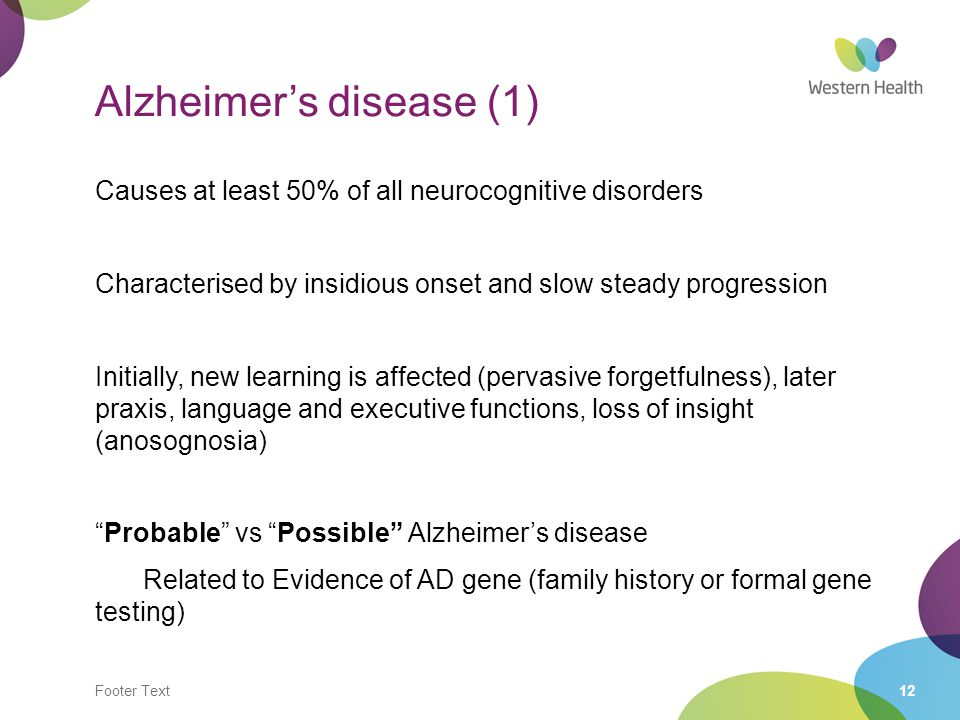 Alzheimer's disease (1)