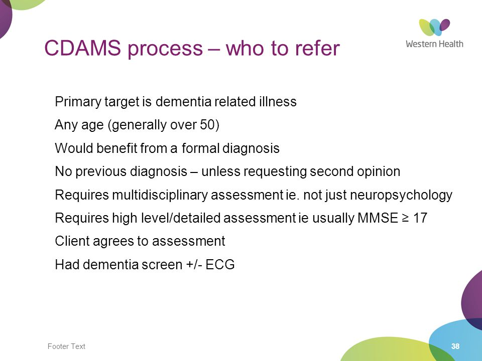 CDAMS process – who to refer