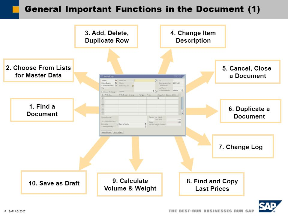 General Important Functions in the Document (1)