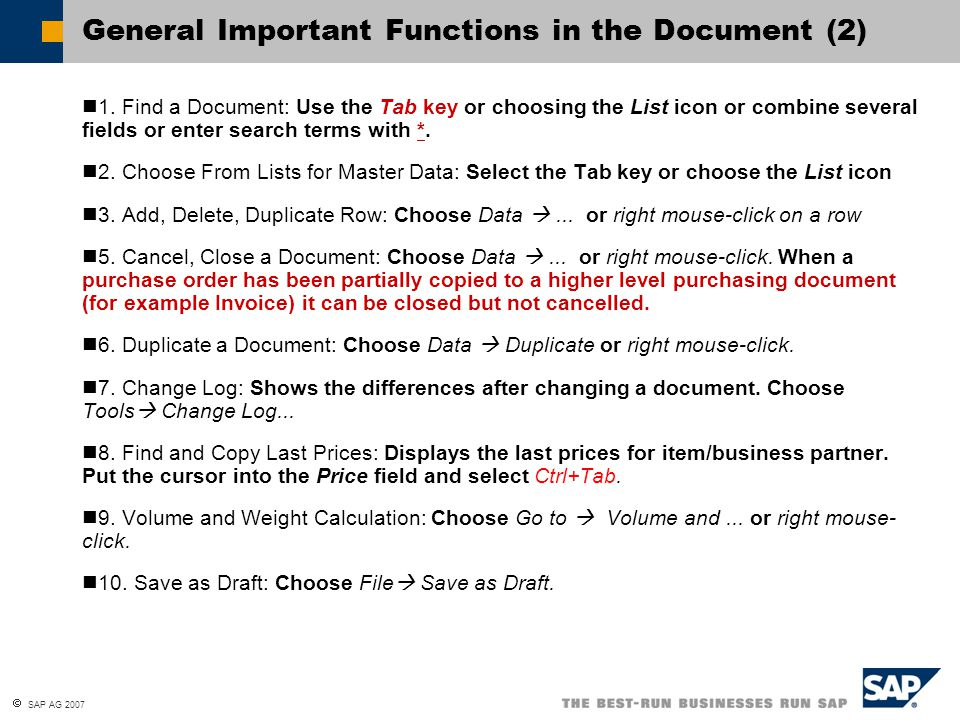 General Important Functions in the Document (2)