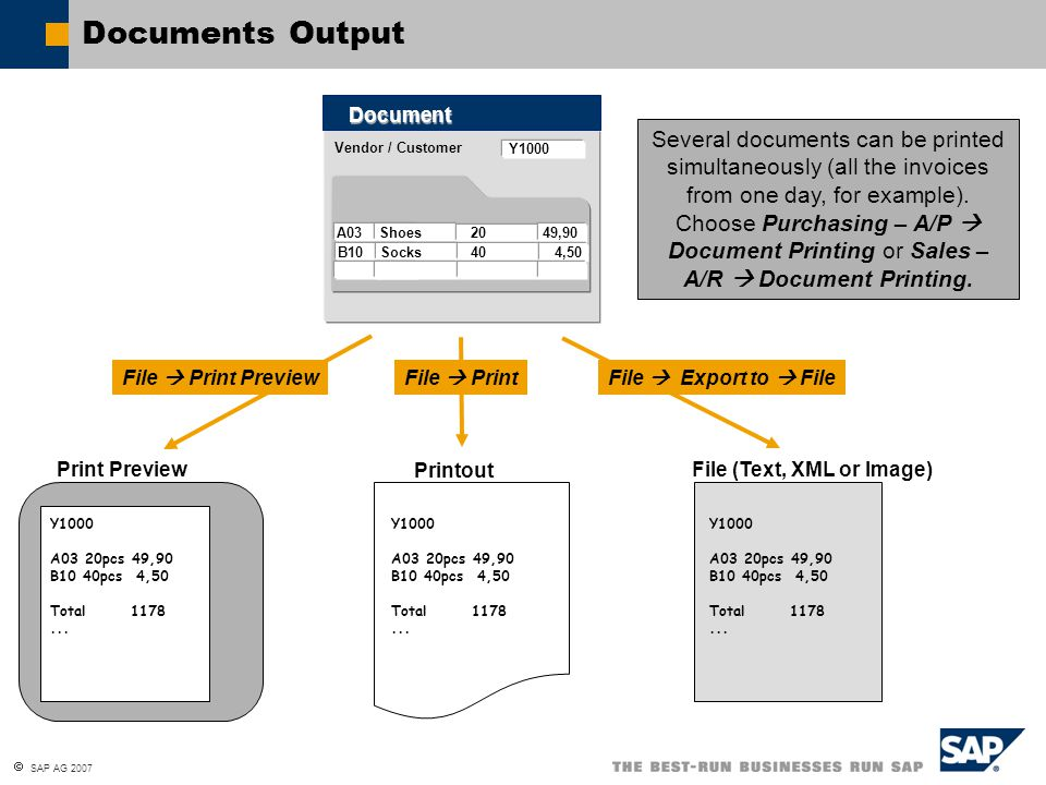 Documents Output Document.