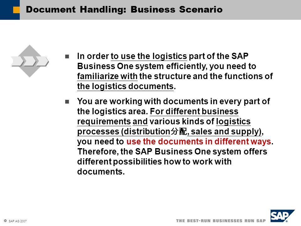 Document Handling: Business Scenario