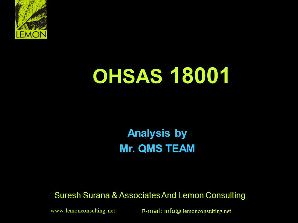 Suresh Surana & Associates And Lemon Consulting