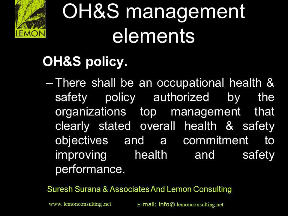 OH&S management elements