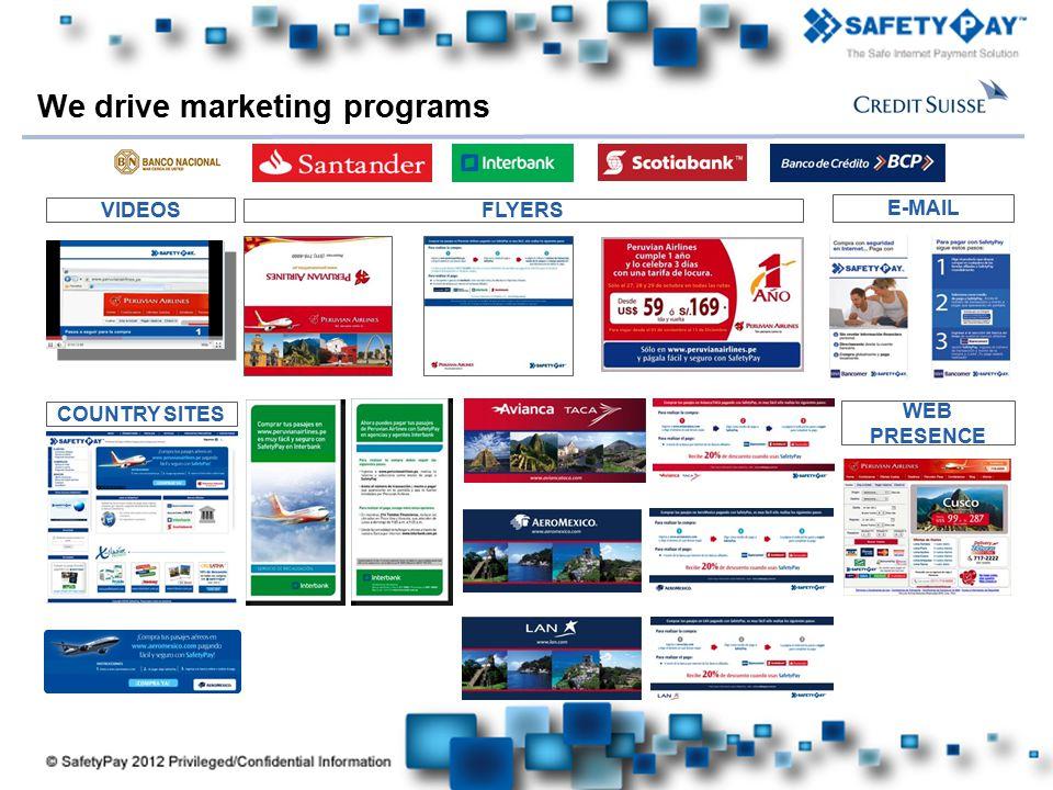We drive marketing programs