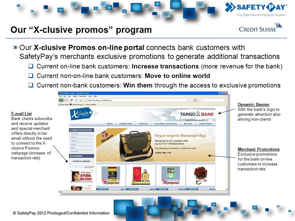 Our X-clusive promos program
