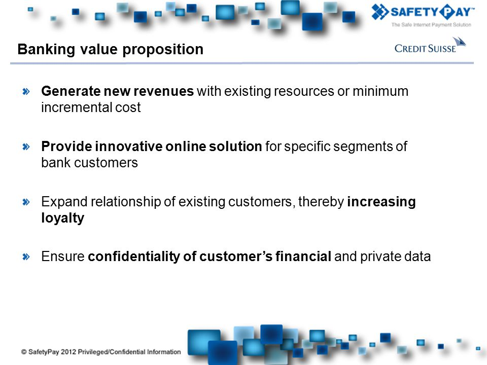 Banking value proposition