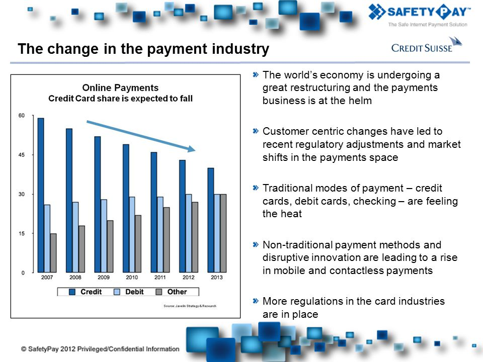 The change in the payment industry