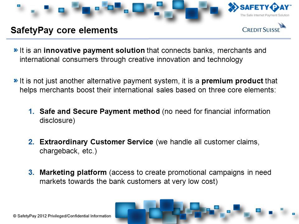SafetyPay core elements