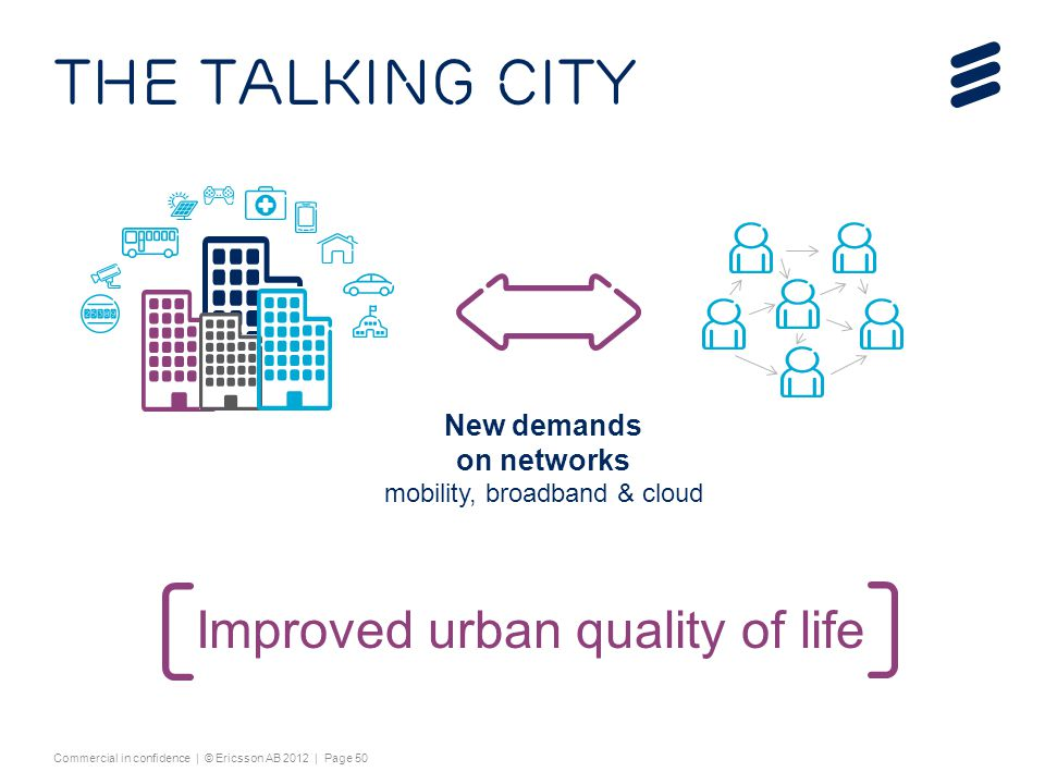 The talking city Improved urban quality of life
