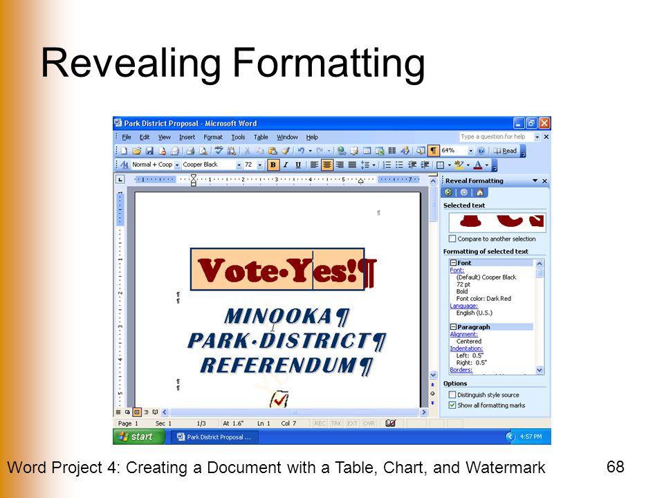 Revealing Formatting