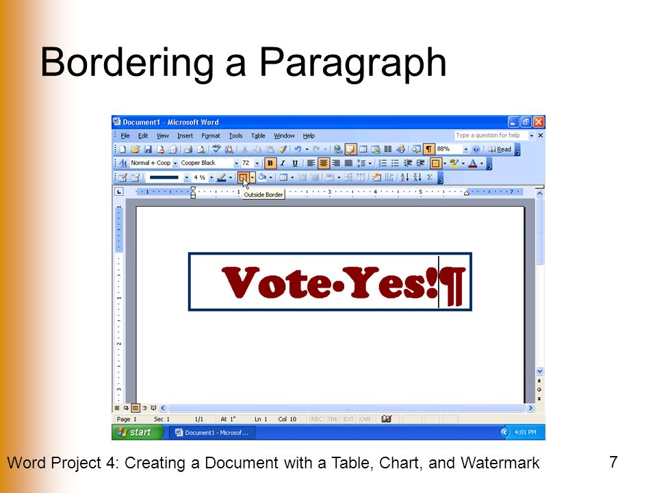 Bordering a Paragraph
