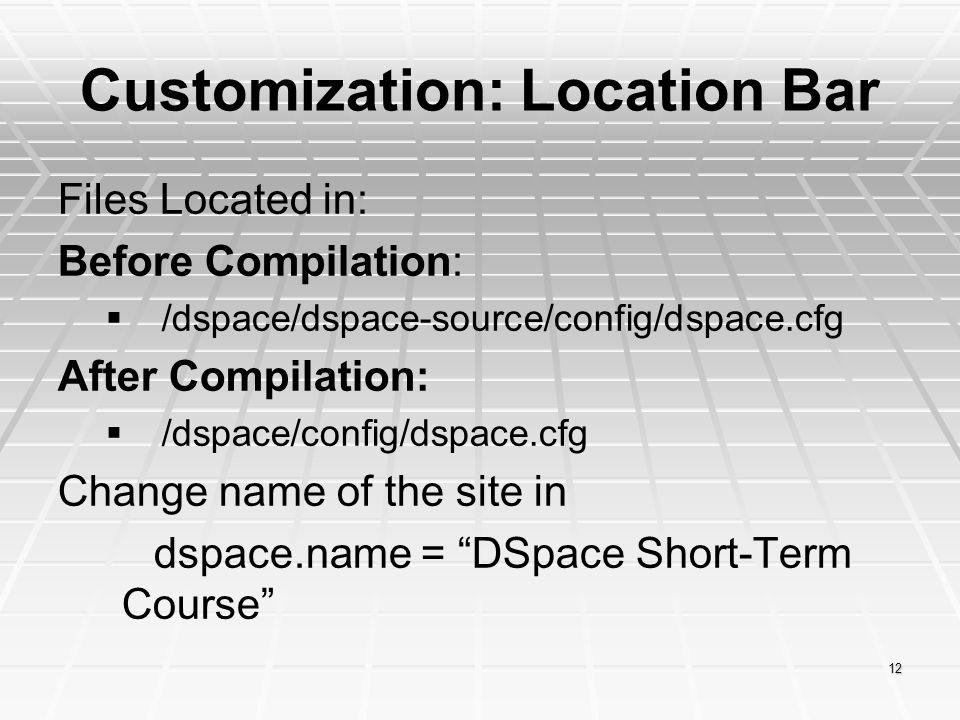 Customization: Location Bar