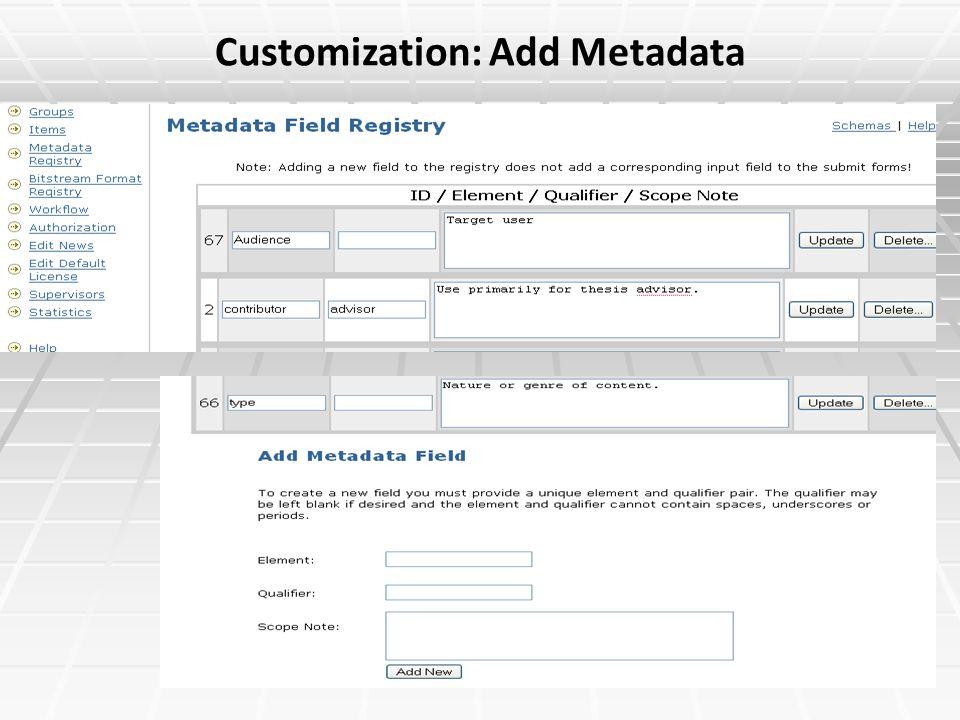 Customization: Add Metadata