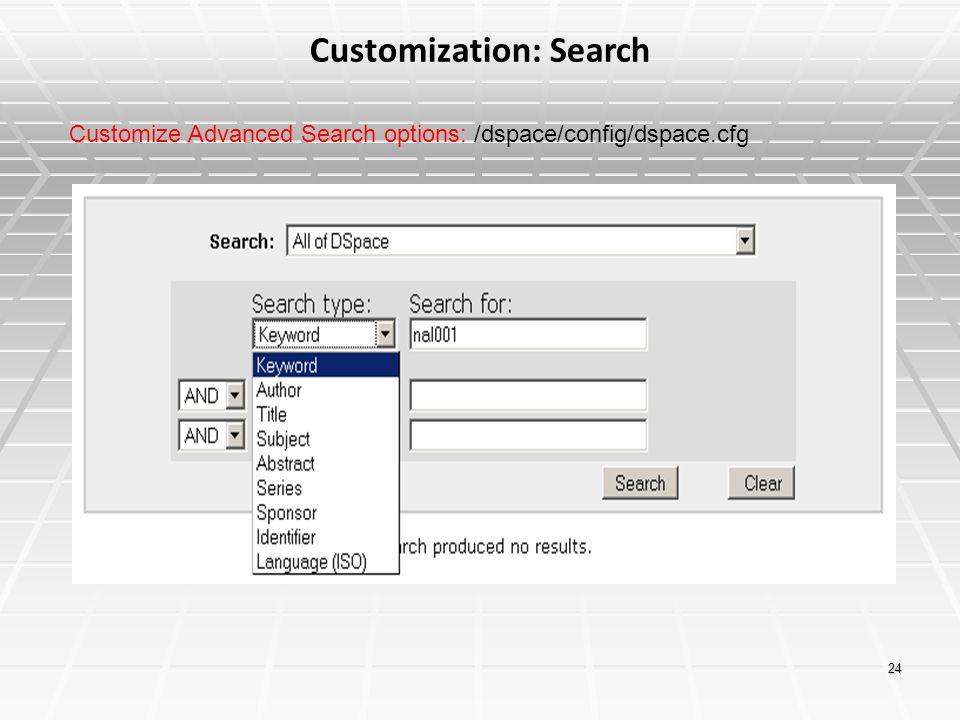 Customization: Search
