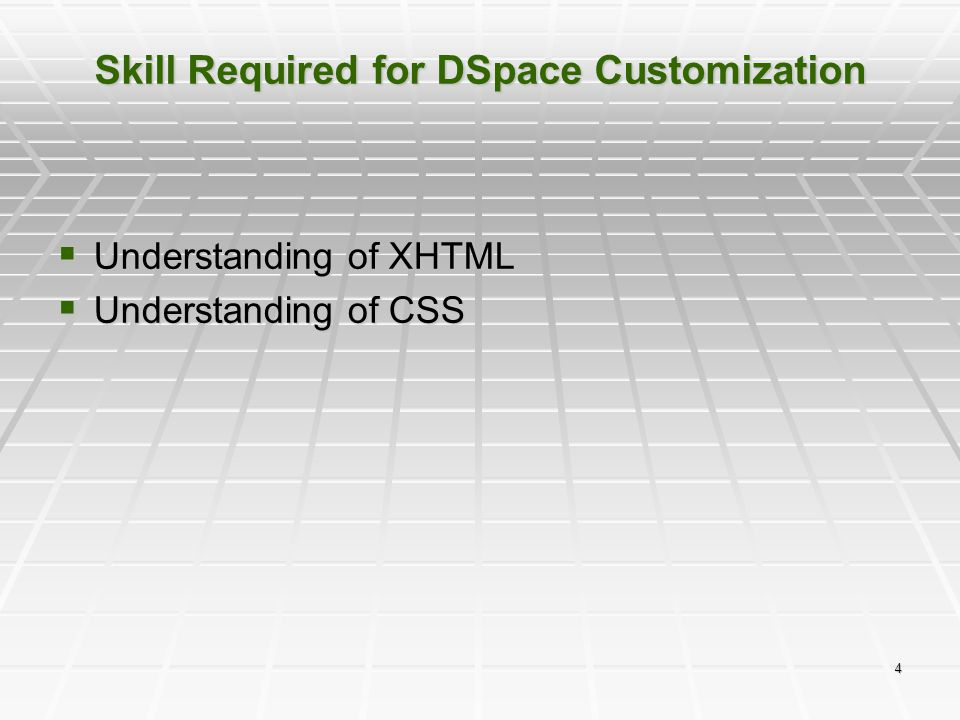 Skill Required for DSpace Customization