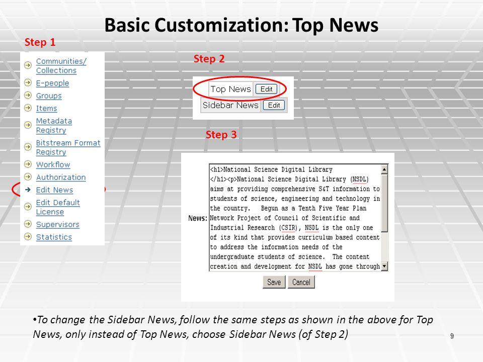 Basic Customization: Top News