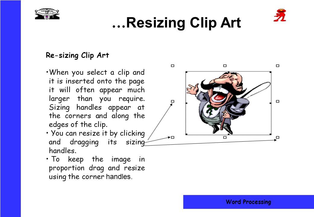 …Resizing Clip Art Re-sizing Clip Art