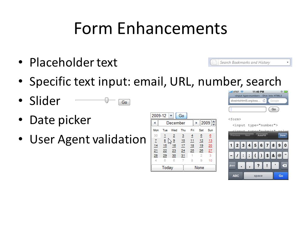 Form Enhancements Placeholder text