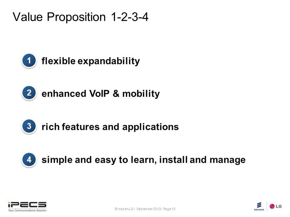 Value Proposition 1-2-3-4 flexible expandability