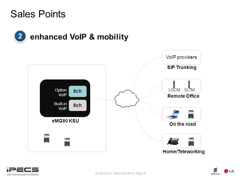 Sales Points enhanced VoIP & mobility 2 VoIP providers SIP Trunking