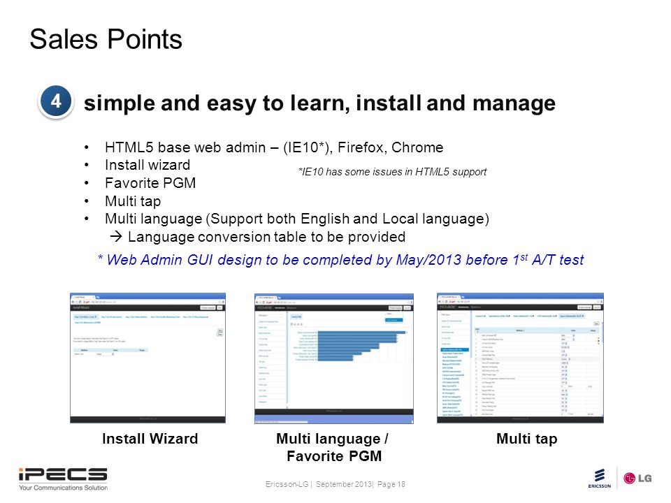 Sales Points simple and easy to learn, install and manage 4