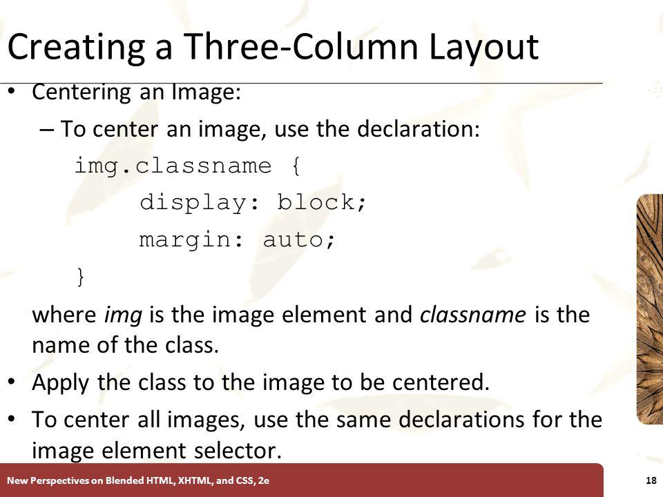 Creating a Three-Column Layout