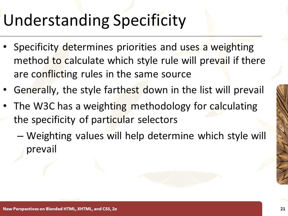Understanding Specificity