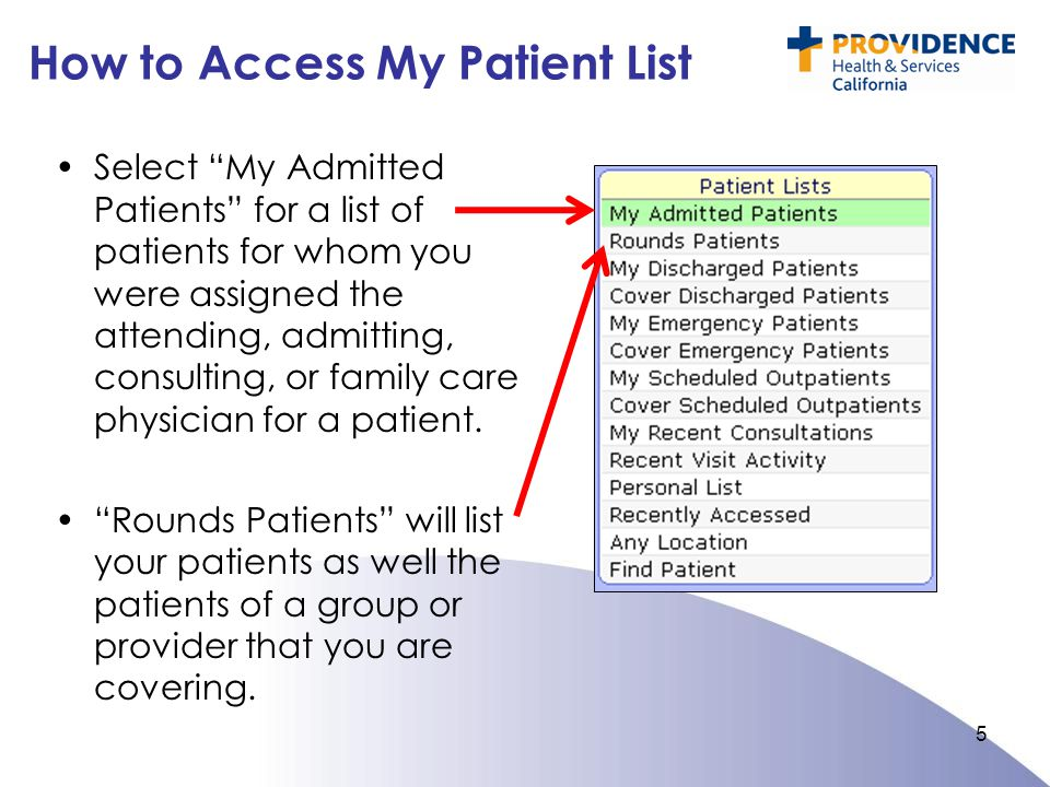 How to Access My Patient List