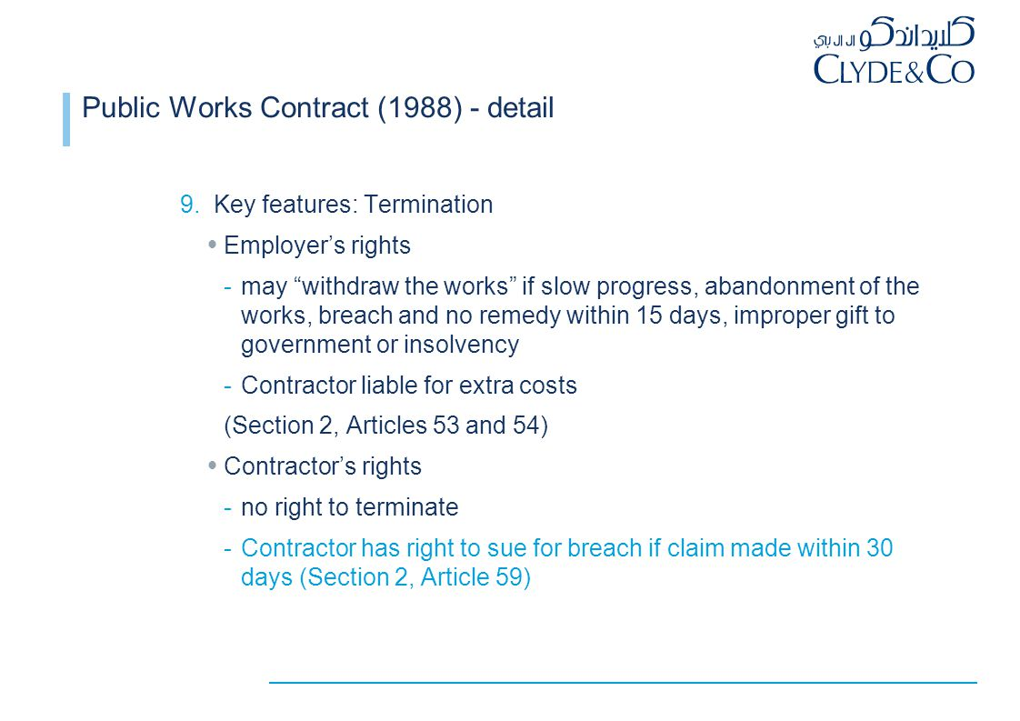 Public Works Contract (1988) - detail