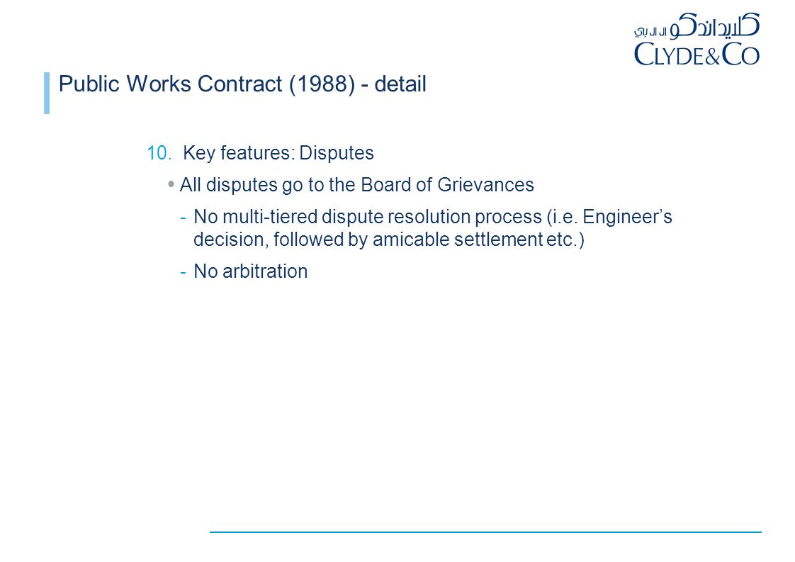 Draft Public Construction Contract (2010)