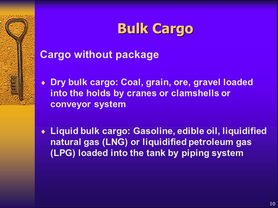 Bulk Cargo Cargo without package