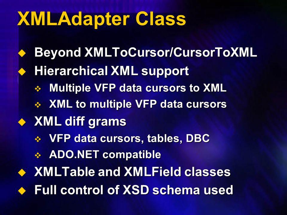 XMLAdapter Class Beyond XMLToCursor/CursorToXML