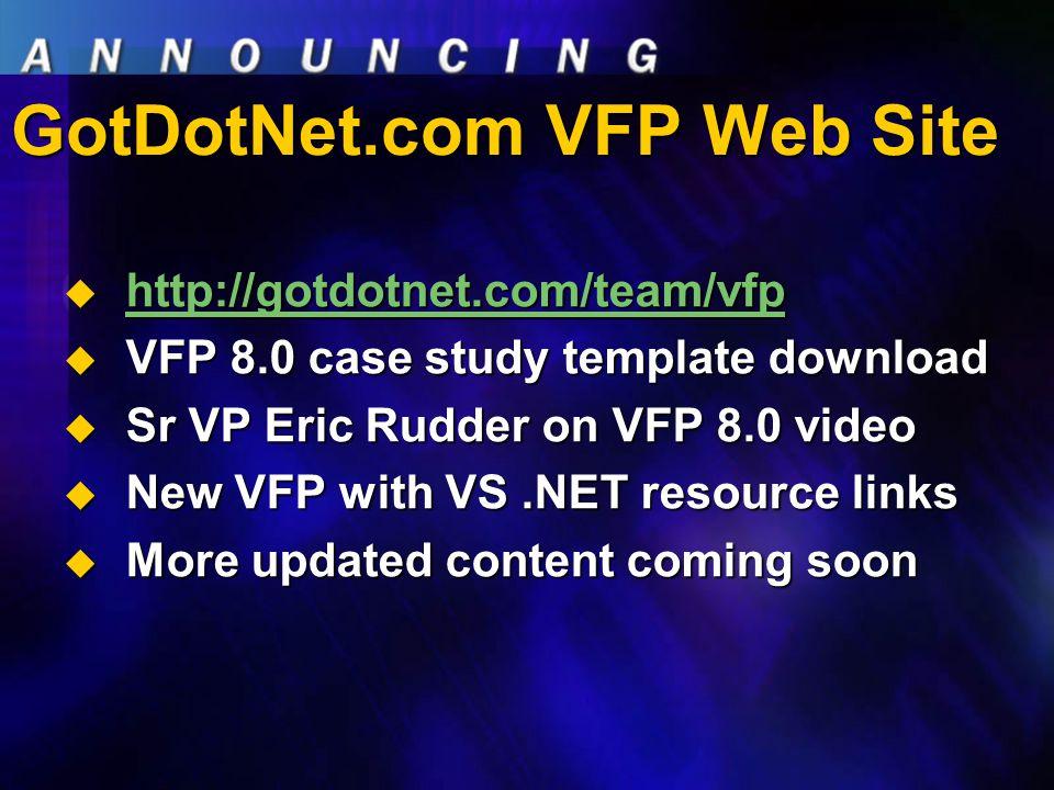 GotDotNet.com VFP Web Site