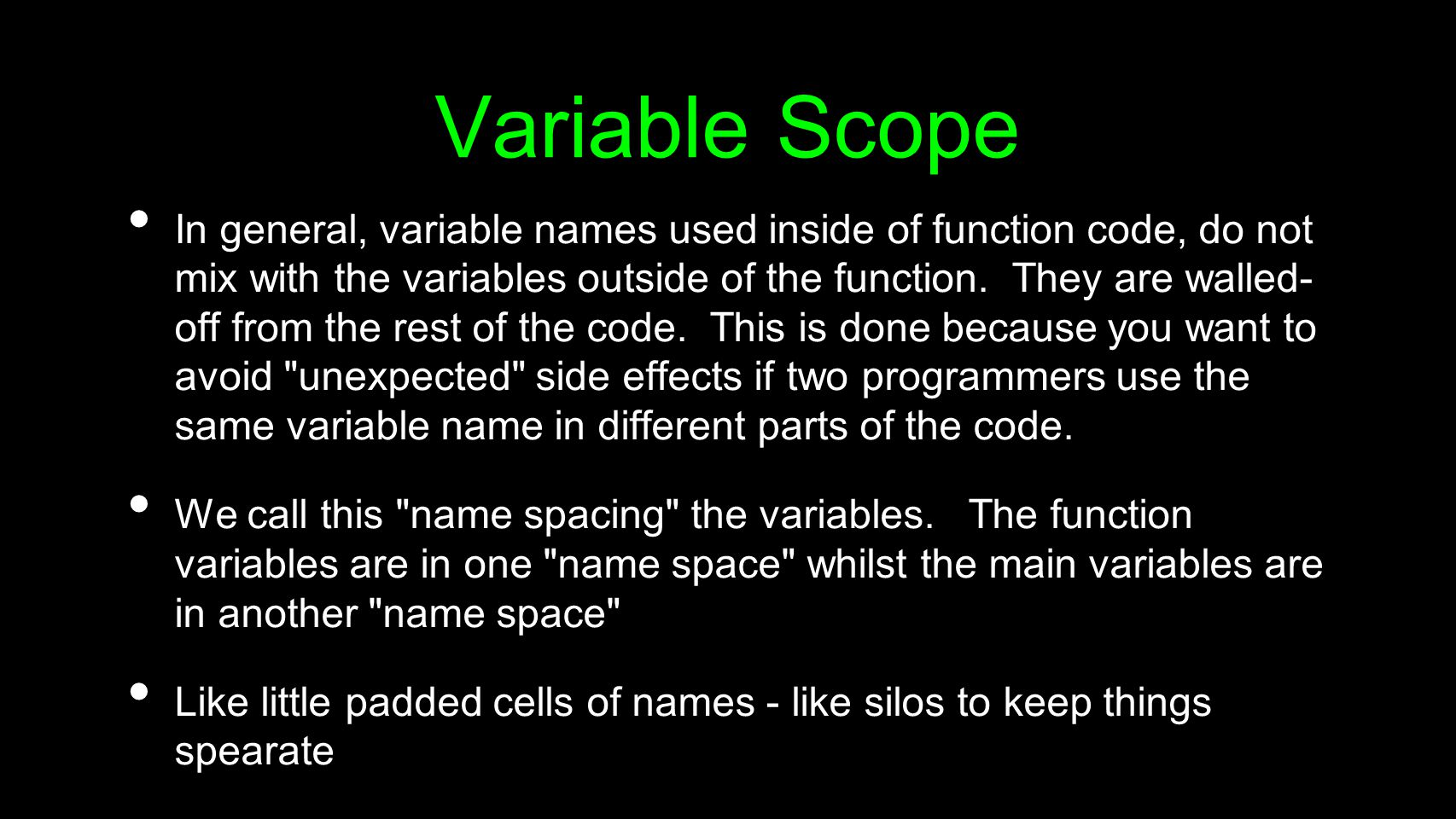 Variable Scope