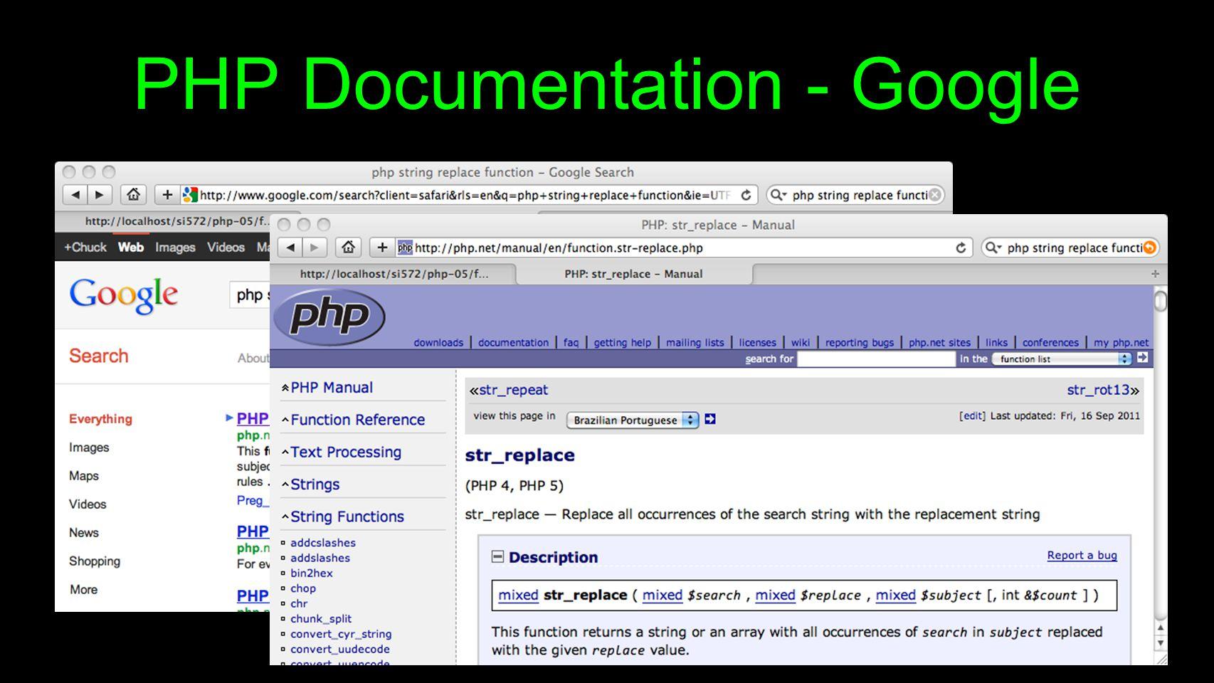 PHP Documentation - Google