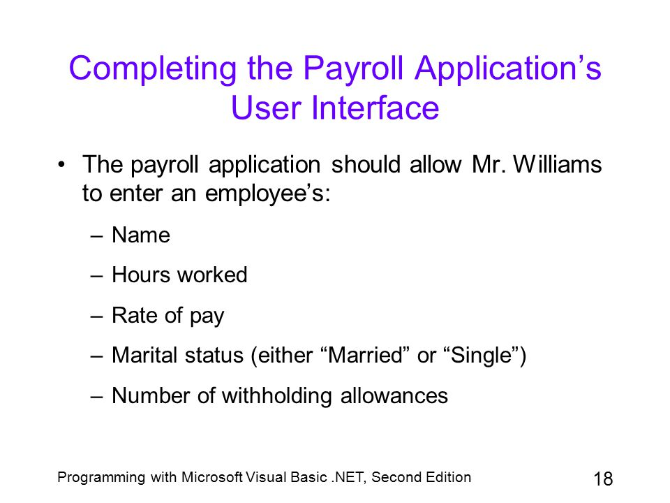Completing the Payroll Application's User Interface
